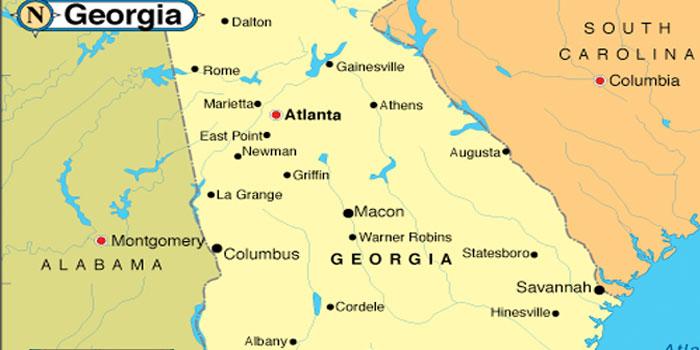 State maps georgia sunshine communication services state maps georgia sciox Gallery